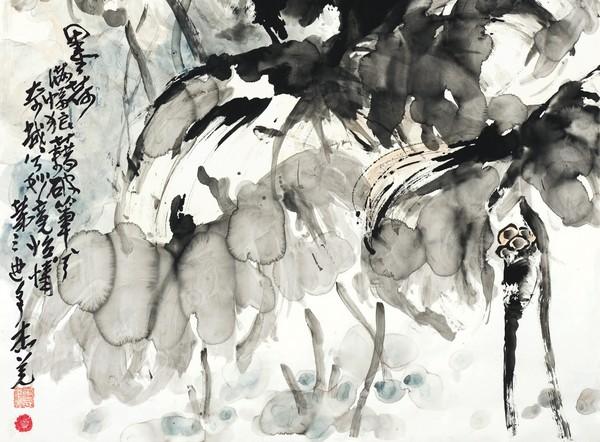 ▼羌佛的「墨荷」全圖。(圖/紐約貞觀國際拍賣公司提供)